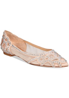 Badgley Mischka Gigi Pointed-Toe Evening Flats Women's Shoes