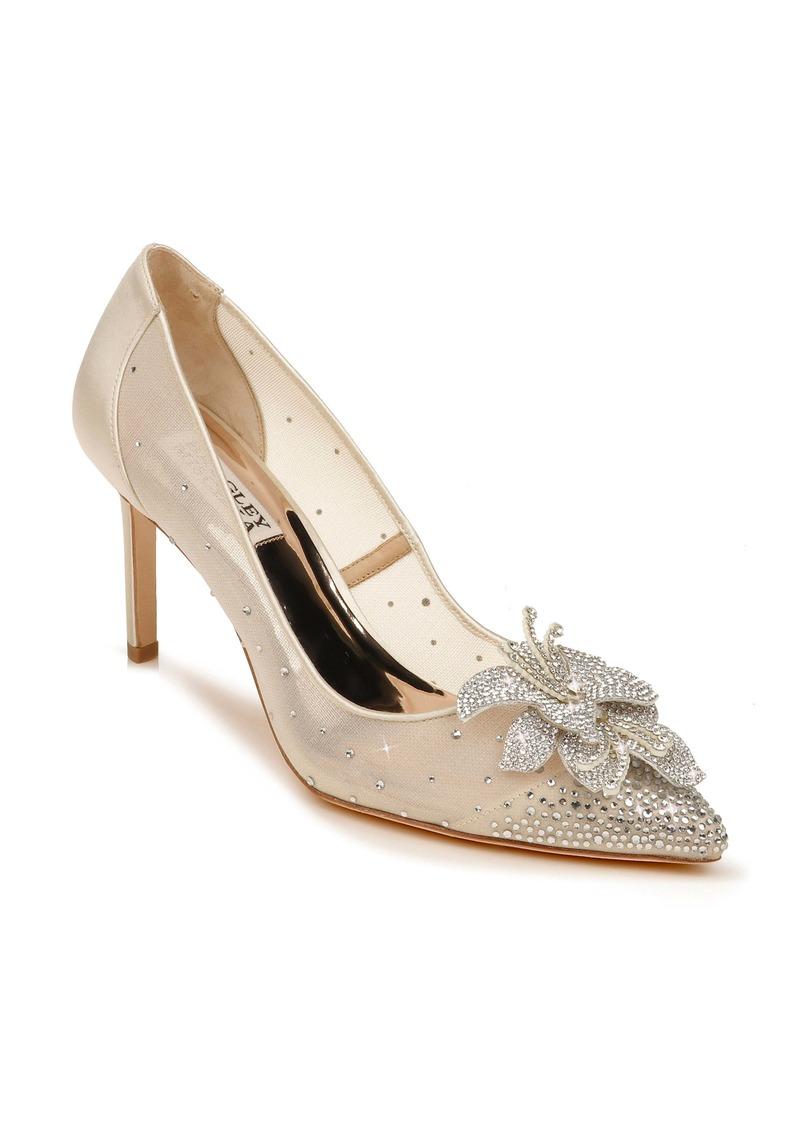 Badgley Mischka Gilda Embellished Pointed Toe Pump (Women)
