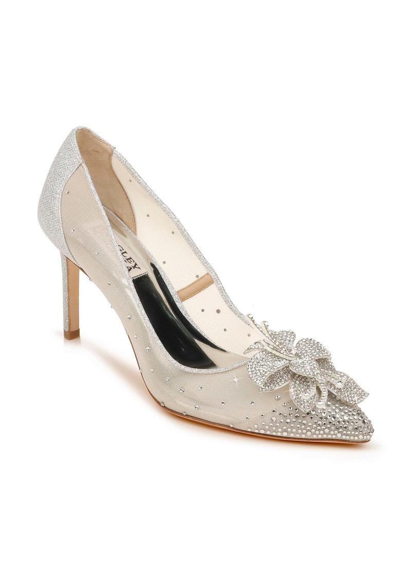 Badgley Mischka Collection Gilda Embellished Pointed Toe Pump (Women)
