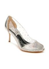 Badgley Mischka Collection Ginata Embellished Peep Toe Pump (Women)
