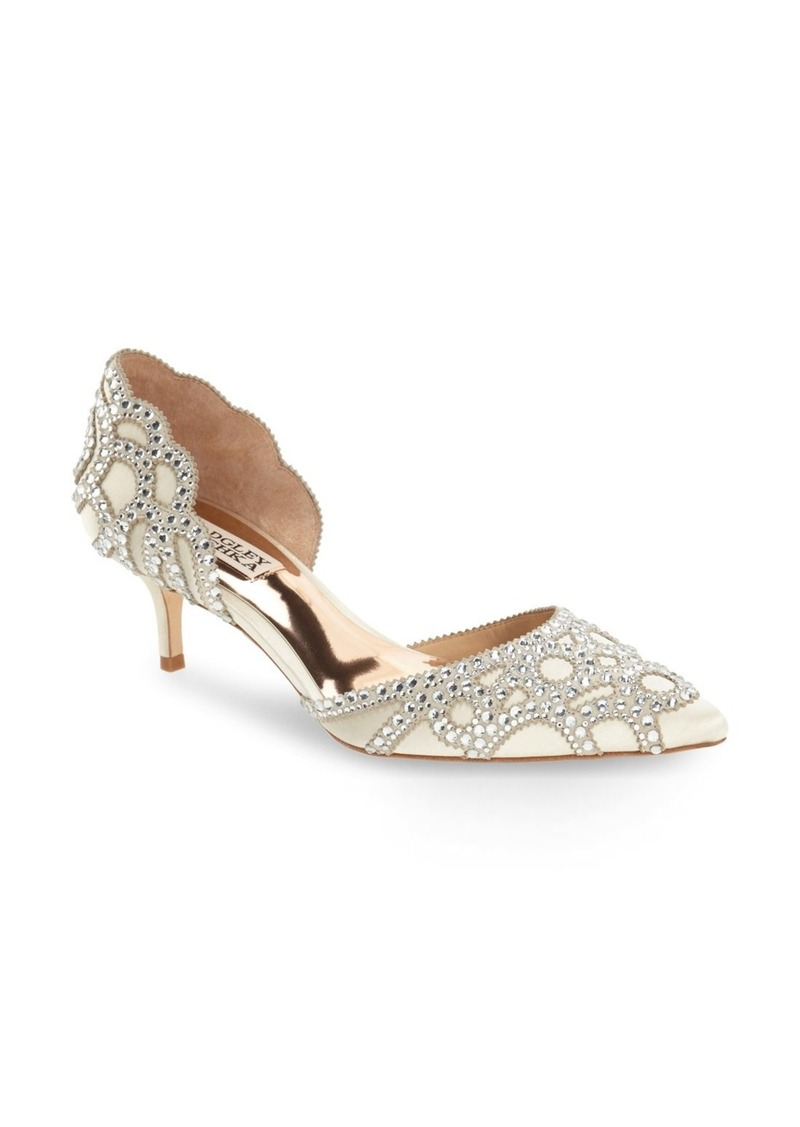 Badgley Mischka Collection Ginny d'Orsay Pointed Toe Pump (Women)