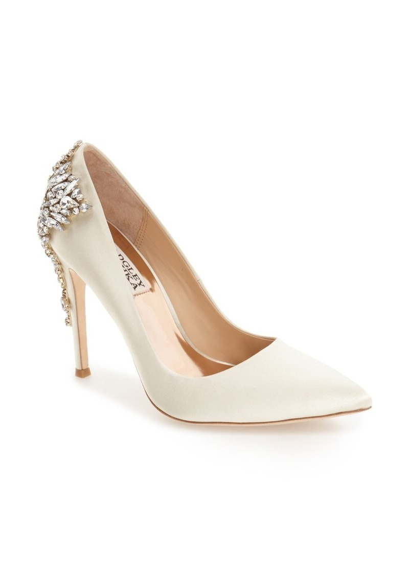 Badgley Mischka Gorgeous Crystal Embellished Pointed Toe Pump (Women)