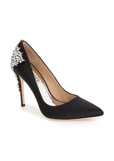 Badgley Mischka 'Gorgeous' Crystal Embellished Pointy Toe Pump (Women)