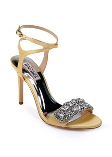 Badgley Mischka Hailey Embellished Ankle Strap Sandal (Women)
