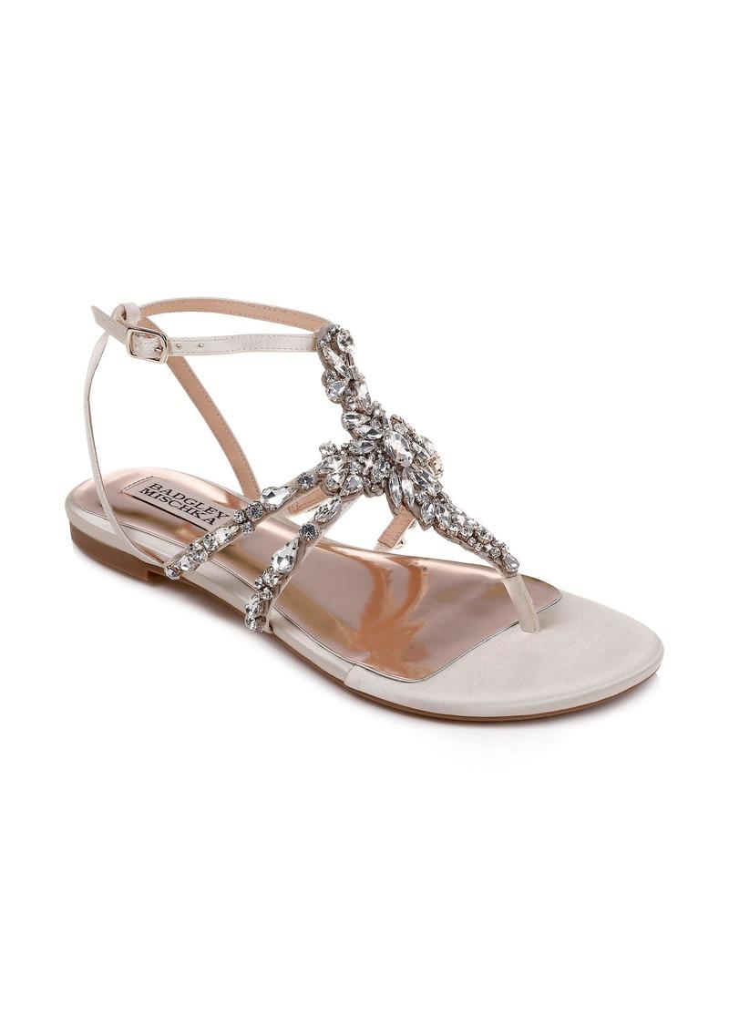 Badgley Mischka Hampden Crystal Embellished Sandal (Women)
