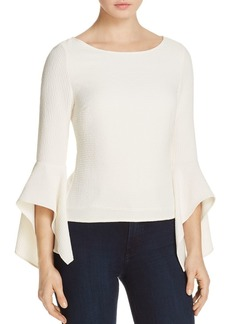 Badgley Mischka Handkerchief Bell Sleeve Top