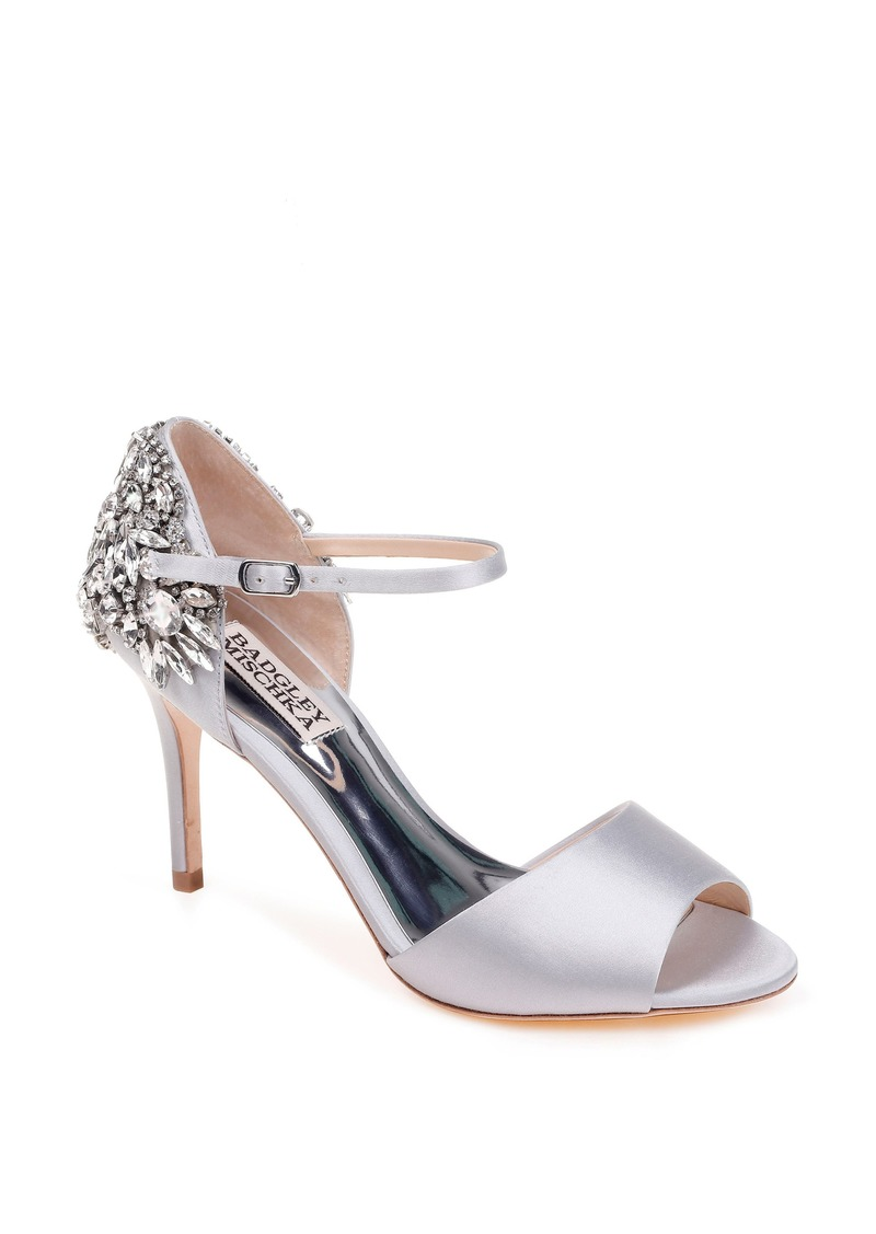 Badgley Mischka Harbor Crystal Embellished Open Toe Pump (Women)