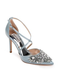 Badgley Mischka Harlene Embellished Pointy Toe Pump (Women)