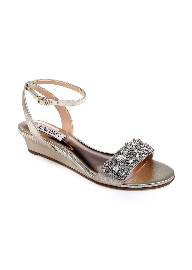 Badgley Mischka Hatch Crystal Embellished Sandal (Women)