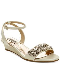 Badgley Mischka Hatch Wedge Evening Sandals Women's Shoes