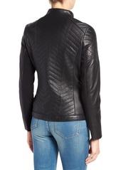 Badgley Mischka 'Hayden' Quilted Moto Jacket