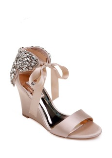 Badgley Mischka Heather Crystal Embellished Wedge (Women)