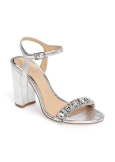 Badgley Mischka Hendricks Embellished Block Heel Sandal (Women)