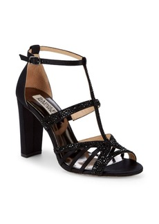 Badgley Mischka Hewitt Embellished T-Strap Sandals