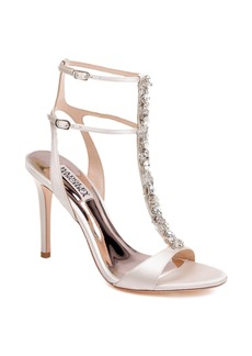Badgley Mischka Hollow T-Strap Embellished Sandal (Women)