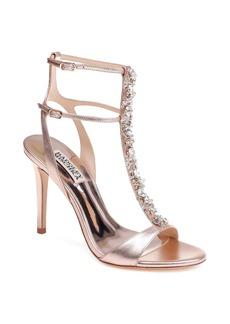 Badgley Mischka Hollow T-Strap Embellished Sandal (Women)