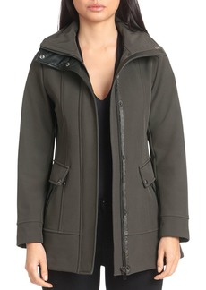 Badgley Mischka Hooded Paneled Jacket