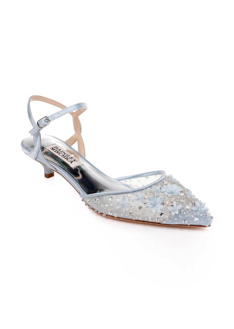 Badgley Mischka Iris Kitten Heel Slingback Pump (Women)