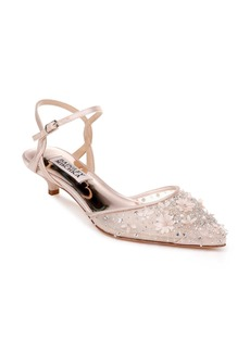 Badgley Mischka Iris Kitten Heel Slingback Pump (Women)