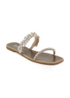 Badgley Mischka Jenelle Embellished Slide Sandal (Women)
