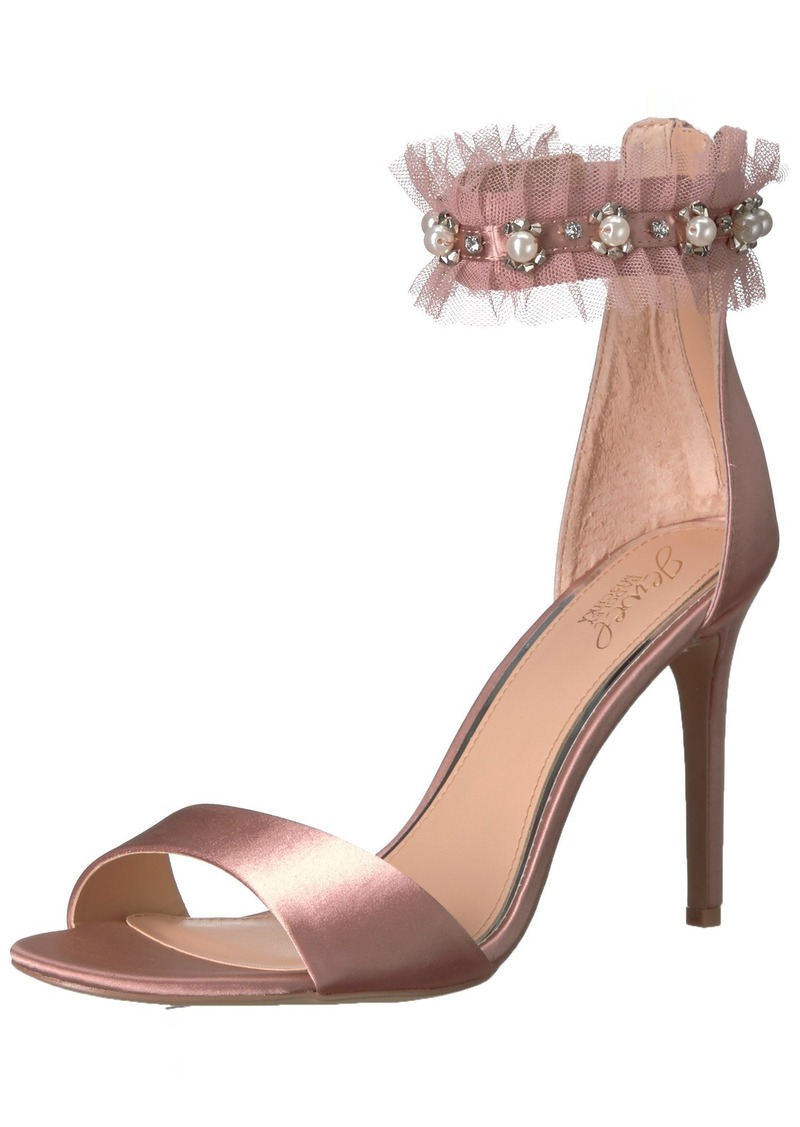 Badgley Mischka Jewel Women's Abagail Heeled Sandal  8.5 Medium US