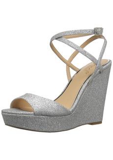 Badgley Mischka Jewel Women's Ambrosia Wedge Sandal  10 Medium US