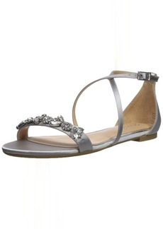 Badgley Mischka Jewel Women's Tessy Flat Sandal  5.5 Medium US