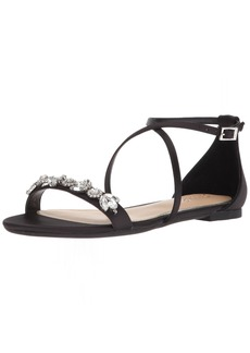 Badgley Mischka Jewel Women's Tessy Flat Sandal   Medium US