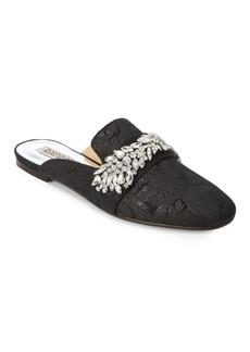 Badgley Mischka Kana Embellished Textile Mules