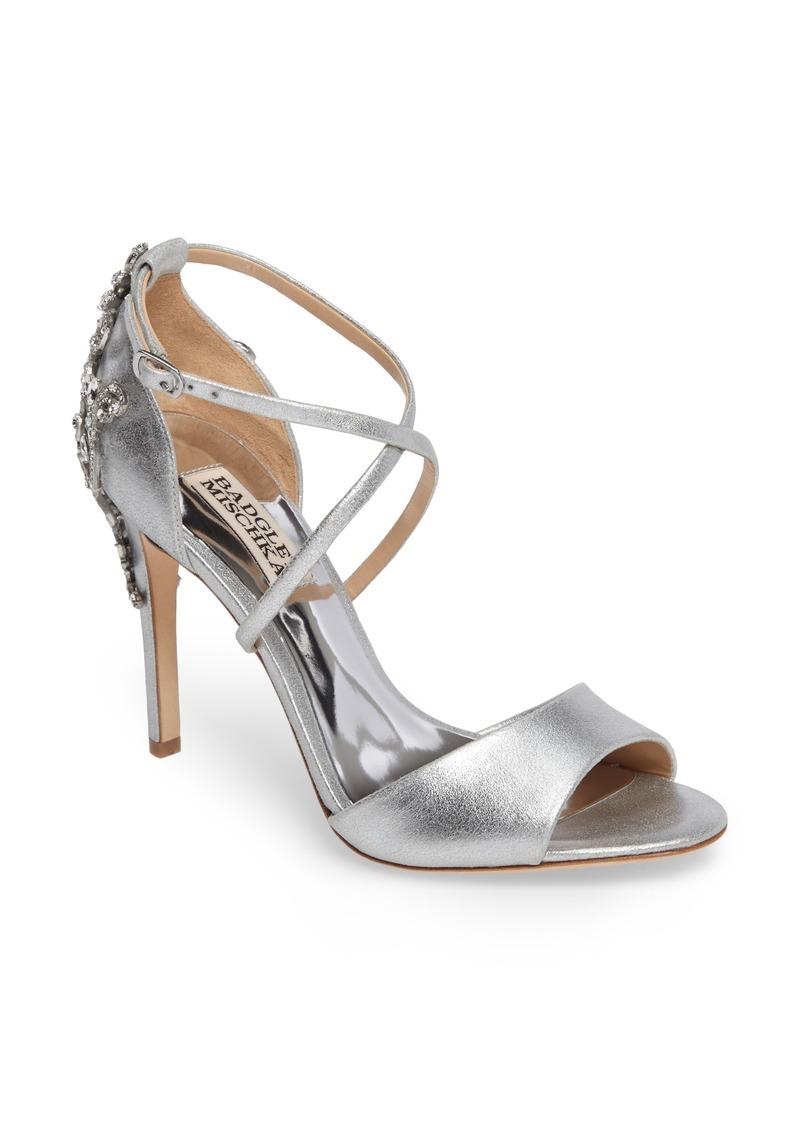 Badgley Mischka Karmen Crystal Back Sandal (Women)
