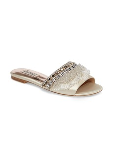 Badgley Mischka Kassandra Embellished Slide Sandal (Women)