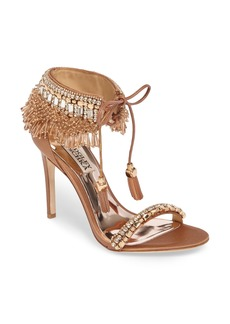 Badgley Mischka Katrina Embellished Tie Sandal (Women)