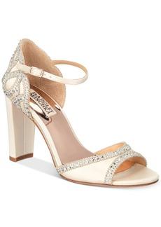 Badgley Mischka Kelly Embelished Block-Heel Evening Sandals Women's Shoes