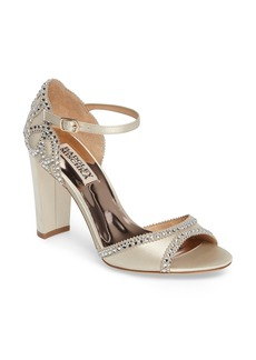 Badgley Mischka Kelly Embellished Crescent Heel Sandal (Women)