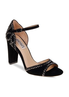 Badgley Mischka Kelly Embellished Suede High Heel Sandals