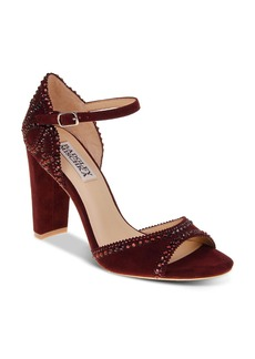 Badgley Mischka Kelly Embellished Suede High-Heel Sandals