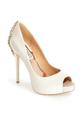 Badgley Mischka 'Kiara' Crystal Back Open Toe Pump (Women)