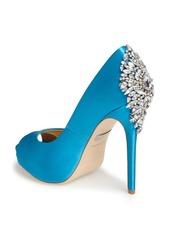 Badgley Mischka 'Kiara' Crystal Back Open Toe Pump (Women)