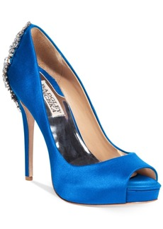 Badgley Mischka Kiara Platform Evening Pumps Women's Shoes