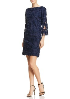 Badgley Mischka Lace Bell Sleeve Dress