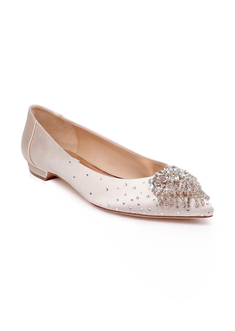 Badgley Mischka Lailah Embellished Skimmer Flat (Women)