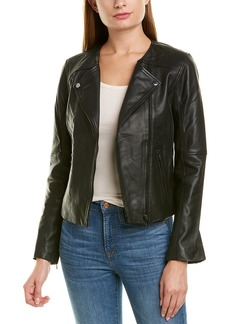 Badgley Mischka Lamb Leather Biker Jacket