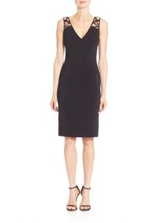 Badgley Mischka Lattice Back Dress
