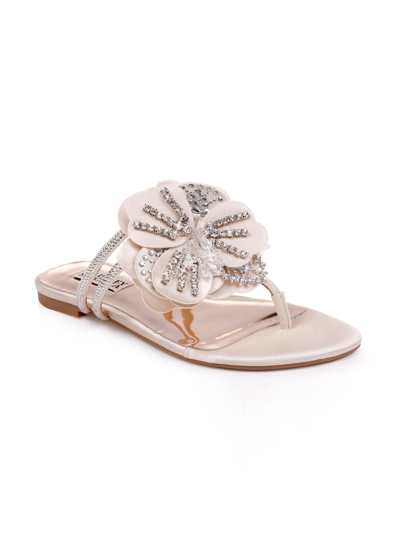 Badgley Mischka Laurie Embellished Slide Sandal (Women)