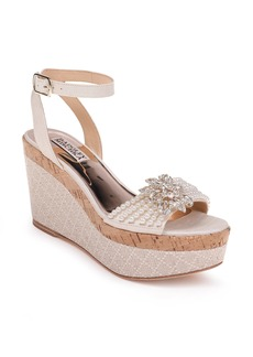 Badgley Mischka Leane Wedge Sandal (Women)