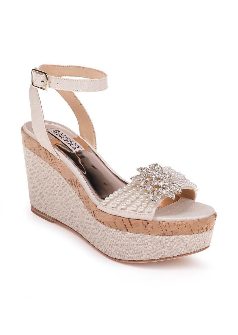 Badgley Mischka Leane Wedge Sandal (Women)