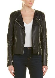 756bc933c Badgley Mischka Leather Biker Jacket