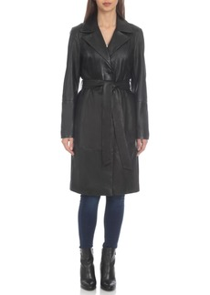 Badgley Mischka Leather Trench Coat