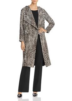 Badgley Mischka Leopard Print Trench Coat