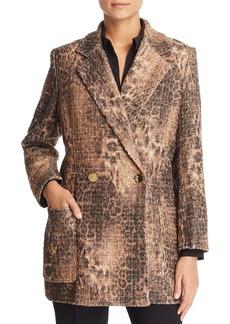 Badgley Mischka Leopard Tweed Jacket